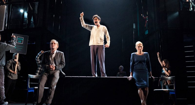 '13' by Mike Bartlett, National Theatre 2011 left to right: DANNY WEBB (Stephen), TRYSTAN GRAVELLE (John), GERALDINE JAMES (Ruth). Photo by Marc Brenner