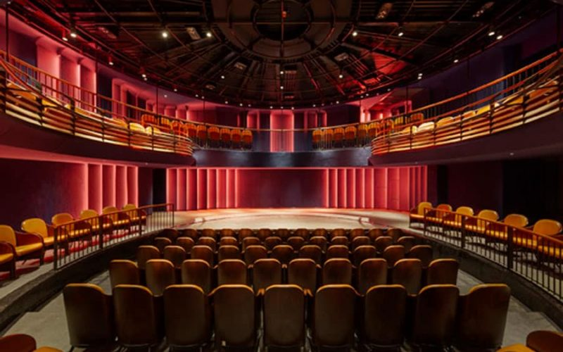 Boulevard Theatre's thrust stage. Photo: Tom Lee